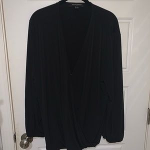 Long Sleeve Flowy Cinched Top